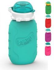 Squeasy Snacker (aqua) 160ml Silicone Gourde Réutilisable pour compotes Aqua