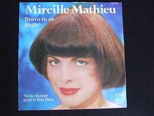 45 tours Mireille mathieu bravo tu as gagné