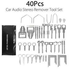 40Pcs Car Radio Removal Tool Audio Stereo Equipment Metal Open Pry Hand Keys Kit
