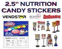 2.5 x 2.5 Bulk Vending Label Candy Machine Sticker GUMBALLS