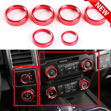 USA 6pcs Red Car Air Condition Switch Knob Cover Trim For Ford F150-XLT 2016-17