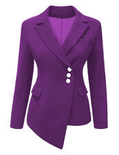 Fashion Womens Blazer Suit Button Jacket Coat Outwear Long Sleeve Tops Clothes