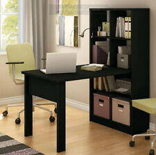 Computer Table With Hutch For Kids Laptop Home Office Work Desk Storage Black