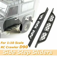 2Pcs 1:10 Scale Metal Side Step Sliders Defender For RC4WD Crawler D90 Car