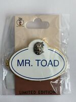 Disney Employee Center DEC Mr Toad Wild Adventure Name Badge Disney Pin LE (B)