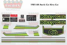 1981-84 Arctic Cat Kitty Cat Graphics Decal Reproduction Full Kit 21 Pieces