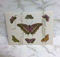 10pcs Vintage Kraft Paper Envelope Letter Stationery Postcards Butterflies