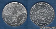10 Euro Série des Régions 2011 Monuments Argent SUP - Poitou Charente