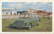 Morris Mini Cooper original Factory issued colour postcard Ref 63106 CREASED