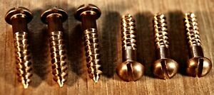 Slotted Silicon Bronze Round Head Woodscrews