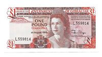 GIBRALTAR £1 ONE POUND BANKNOTE, CRISP & ABOUT UNCIRCULATED, 1988, PICK 20e