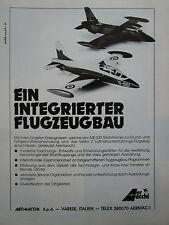 7/1981 PUB AVION AERMACCHI MB-339 MILITARY JET TRAINER ORIGINAL GERMAN AD