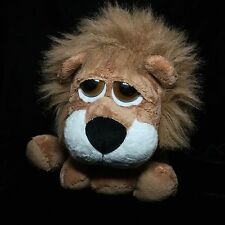 "Russ Carnie Big Eyed Lion Plush Soft Toy 12"" Brown Stuffed"