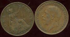 Great Britain - Royaume Uni one penny 1927 ( etat )