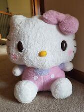 Sanrio Hello Kitty Fluffy Pink Purple Overalls Cute Plush Stuffed Toy Japan