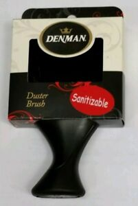 Denman Neck Duster Brush with Extra-Soft Nylon Bristles, Black Handle/Bris New