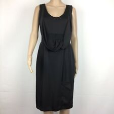Veronika Maine LBD Black Evening Sheath Dress Japanese Fabric Size 10 (AR6)