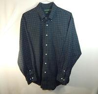 Ralph Lauren Long Sleeve Oxford Mens Dress Shirt Classic Fit Size 17.5 34 / 35