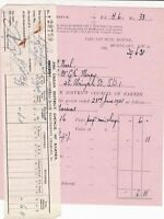 The Urban District Council of Barnes 1931 Lighting Invoice & Receipt Ref 46132