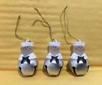 Roman Jingle Buddies, Medium, Snowman, Christmas ornament, Navy Sailor, Set of 3