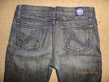 j women's ROCK & REPUBLIC boot JEANS sz 28R 30 INSEAM LOW RISE STRETCH