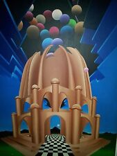 WHIMSICAL ABSTRACT? ORIGINAL OF BAHAI TEMPLE ON CHICAGO'S NORTHSHORE SIGNED