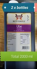 UBE Flavoring Super Large (2 Liter =2000 ml) Butterfly Brand (US Seller)