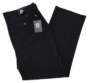 FOOTJOY Golf Performance Pants Flat Front 24101 Black ~ 40 x 30 ~ New