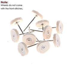 x10 Cloth Cotton Pad Polishing Buffing Shank Wheel for Dremel Rotary Tool