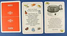 Quartett - Küchenmaschinen + Rezepte - AEG WERBEQUARTETT - Kartenspiel