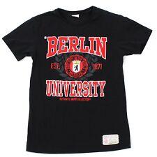 VINTAGE Berlin University Shirt Varsity Tee Small 3D Felt Spellout Embroidery