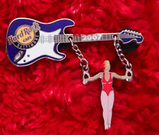 Hard Rock Cafe Pin BALTIMORE Olympic GYMNAST GIRL blonde GUITAR LE chain dangle