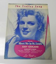 TROLLEY SONG Meet Me in St. Louis JUDY GARLAND 1944 Vintage Sheet Music