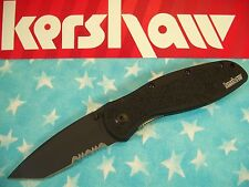 "KERSHAW  ""USA"" - BLUR Tanto BLACK PS spring assist A/O knife 14C28N k 1670TBLKST"