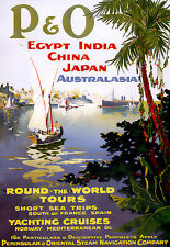 Art Poster - Egypt - India - China - Japan - Aus RTW Cruise - Travel A3 Print
