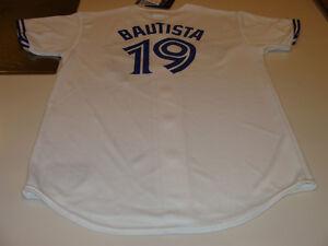 2012 Toronto Blue Jays New Logo Jose Bautista Youth M White Home Jersey MLB