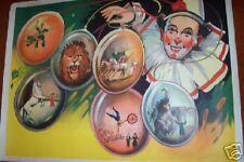 "CIRCUS   40 x 30""   Clown,  Lion   Wilson Show Poster"