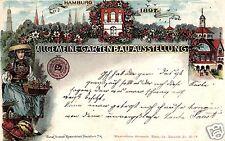 13233/ Litho AK, Hamburg, Allgemeine Gartenbau-Ausstellung, 1897