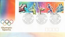 L4250sbs Australia 2000 Olympic Sports 45c Strip FDC