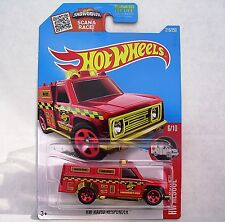 RED HW Rapid Responder Fire Dept. 2016  HW Rescue 6/10. DHX08. New in Package!