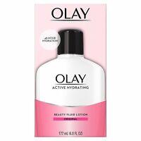Olay - Active Hydrating Beauty Fluid Lotion, Original, 6oz