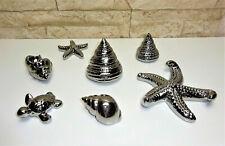 Deko Set Muschel Seestern Schildkröte silber maritime Dekoration 7 Teile