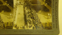 PHOTO STEREOVIEW NEW YORK NY PARADE STORE FRONTS STREET BUILDINGS