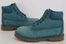 TIMBERLAND JUNIOR WATERPROOF TEAL BLUE LEATHER BOOTS SHOES SIZE UK 11.5, EUR 30