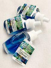3 Bath & Body Works Blue Ocean Waves Wallflower Home Oil Refills Bulb Plug In