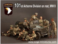 1:35 WWII the US 101st Airborne Division 9 people (NO CAR) Resin Kit Unassembled