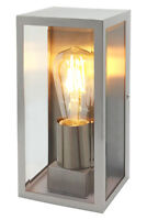 Rectangular Glass Stainless Steel Outdoor Wall Light Garden Wall Lamp ZLC083