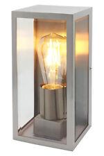 Vidrio Rectangulares Acero Inoxidable al Aire Libre Luz De Pared Lámpara De Pared Jardín ZLC083
