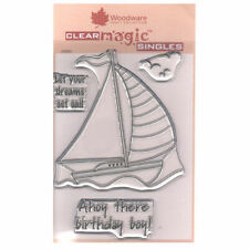 New listing Woodware A6 Clear Cling Stamps - Jgs520 Set Sail