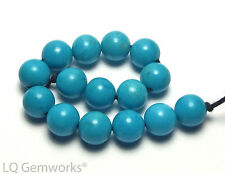 15 pcs SLEEPING BEAUTY TURQUOISE 6mm Round Beads AA+ NATURAL COLOR /R84